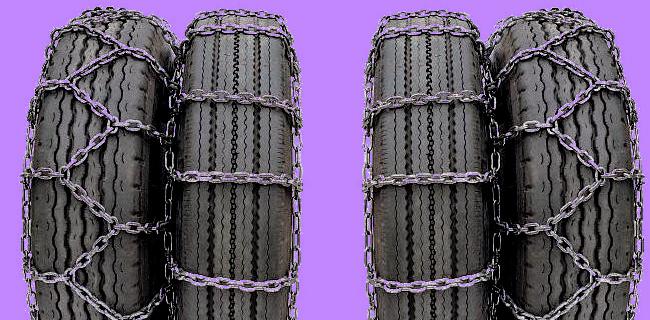Цепи противоскольжения «Спарка» с двойным рисунком на колеса 320х508 (12,00R20)