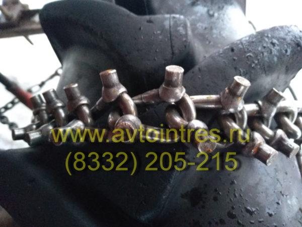 Шипованные цепи противоскольжения на колесный трактор