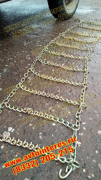 """Шипованные цепи тип """"Лесенка"""" с цинковым покрытием для внедорожников"""